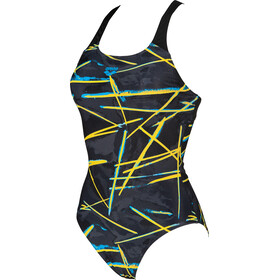 arena Light Beams Swim Pro Back One Piece Swimsuit Dames, black/multi